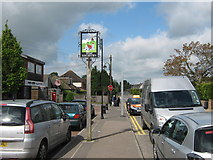 TQ5763 : West Kingsdown Village Sign by David Anstiss