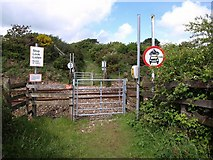 SW7545 : Byway crossing above Jolly's Bottom by Derek Harper
