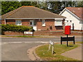 SY9996 : Broadstone: postbox № BH18 212, Lancaster Drive by Chris Downer