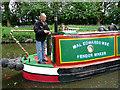 SJ9002 : A working narrowboat near Wolverhampton by Roger  Kidd