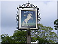 TM3067 : White Horse Public House Sign by Adrian Cable