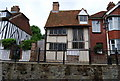 TQ8209 : Half timbered house being restored, High St, Hastings Old Town by N Chadwick