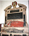 TM1992 : St Mary's church - C17 monument in chancel by Evelyn Simak