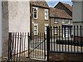TL0967 : Church yard gate, Kimbolton by Michael Trolove