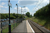 SP0271 : Alvechurch Station - south end of the platform by Row17