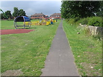 SE1311 : Footpath at Honley by Chris Wimbush
