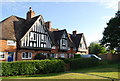 TQ5250 : Edwardian almshouses, village green, Weald by Nigel Chadwick