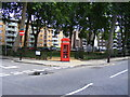 TQ3082 : Telephone box in Regents Square by PAUL FARMER