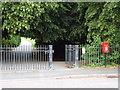 SZ0095 : Broadstone: postbox № BH18 220, Ridgeway by Chris Downer