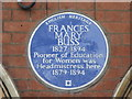Photo of Frances Mary Buss blue plaque