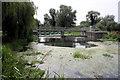 TL6475 : Weir on River Lark at Isleham by Bob Jones