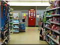 SZ0693 : Branksome: postbox № BH12 ??, inside Sainsbury's by Chris Downer