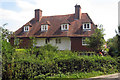 TQ7338 : Wealden Hall House on Chequers Lane, Goudhurst, Kent by Oast House Archive