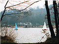 SJ9459 : Rudyard Reservoir, reduced level by Stephen Craven