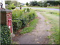 TM4167 : YHR Nursery Victorian Postbox  & B1122 Yoxford Road by Adrian Cable