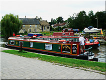 ST8260 : Canal boat on the way down the Kennet and Avon canal (4) by Brian Robert Marshall