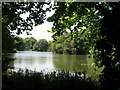 TQ2877 : Lake in Battersea Park by Peter S