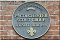 Photo of 1st Colchester Scout Group blue plaque