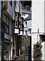 SX1251 : Narrow, stepped street, Fowey by Alec MacKinnon
