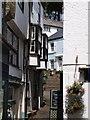 SX1251 : Narrow, stepped street, Fowey by Alec MacKinnon