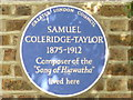 TQ3367 : Blue Plaque for Samuel Coleridge-Taylor, Dagnell Park, Selhurst by Peter Trimming