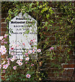 TM3268 : Primitive Methodist Chapel sign by Adrian Cable