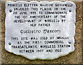 Photo of Guglielmo Marconi grey plaque