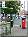 SK5135 : Post box NG9 605 by Alan Murray-Rust