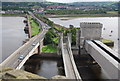 SH7877 : Three Bridges across the River Conwy by N Chadwick