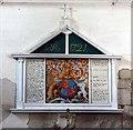 TL3664 : All Saints, Lolworth, Cambridgeshire - Royal Arms by John Salmon