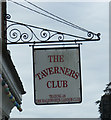 TM3877 : The Taverners Club Sign by Adrian Cable