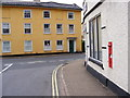 TM3877 : Station Road Victorian Postbox &amp; Station Road by Adrian Cable