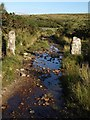 SX6472 : Wet bridleway, Swincombe by Derek Harper