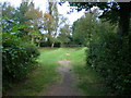 SJ8801 : The north end of the public footpath across the South Staffs golf course by Richard Law