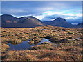 NG4730 : Boggy moorland with a Cuillin backdrop : Week 41
