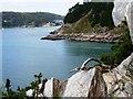 SX9049 : Newfoundland Cove, Dartmouth Harbour entrance by Tom Jolliffe