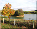 TL0897 : Fishing lake east of the Nene Valley Railway by Evelyn Simak