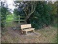 SJ5256 : Seat on the Sandstone Trail by Eirian Evans