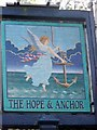 ST7660 : Sign for the Hope and Anchor by Maigheach-gheal