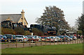 TL0997 : Wansford railway station carpark by Andy F