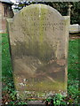 SJ5055 : Gravestone, All Saints Harthill by Eirian Evans
