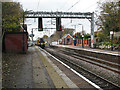 SJ8055 : Alsager station platforms by Stephen Craven