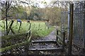 SE1739 : Permitted Bridleway 'Gate' at Ainsbury Avenue by Richard Kay