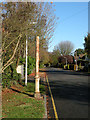 TL4556 : Stench column, Newton Road by Keith Edkins