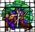 TM1085 : St Mary's church - C20 memorial window (detail) by Evelyn Simak