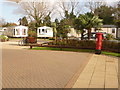 SY9791 : Hamworthy: postbox № BH15 144, Rockley Sands by Chris Downer