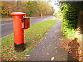 SY9993 : Creekmoor: postbox № BH17 198, Longmeadow Lane by Chris Downer