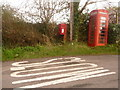 SY8484 : Coombe Keynes: postbox № BH20 136 and phone box by Chris Downer