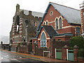 SX9372 : St Peter's church and hall, Shaldon by Stephen Craven