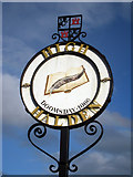 TQ9037 : High Halden Village Sign by Oast House Archive
